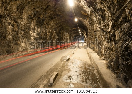 Tunnel Road in Gibraltar - stock photo