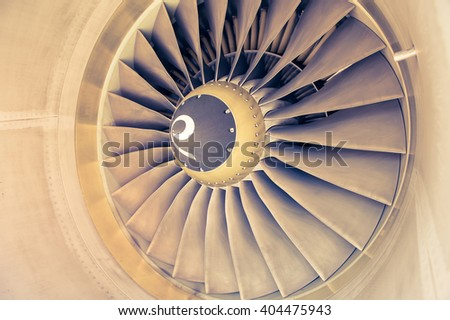 turbine blades - Vintage filter - stock photo