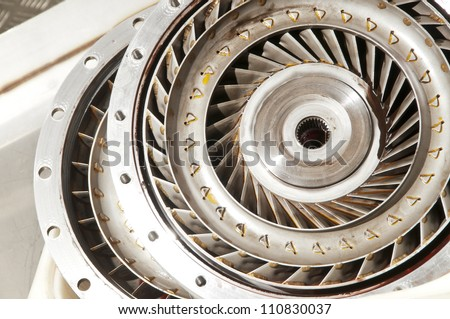 Turbine of an automatic transmission - stock photo