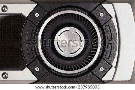 turbo fan of graphic card - stock photo