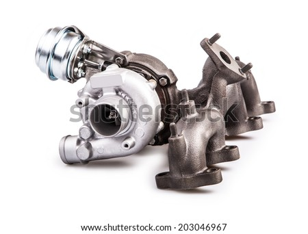 Turbocharger for car  - stock photo