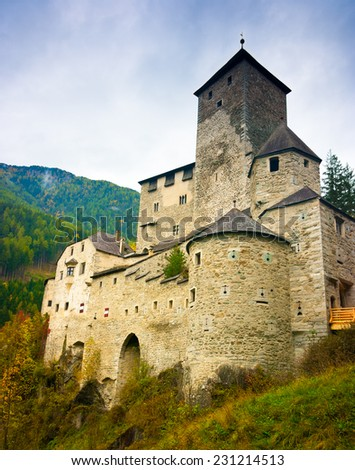 Tures Castle above Campo Tures, Aurina valley, South Tyrol, Trentino Alto Adige, Italy - stock photo
