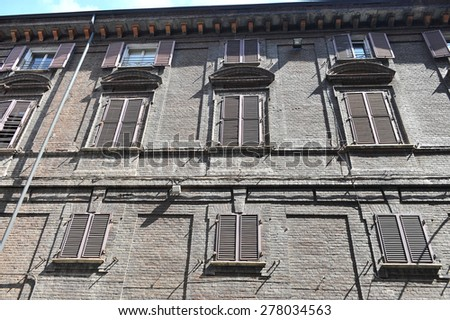 TURIN, ITALY - APRIL 18: windows, on April 18, 2015 in Turin, Italy - stock photo
