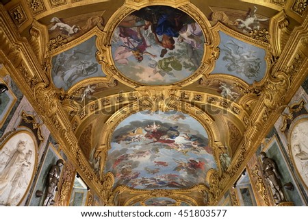 TURIN, ITALY - JUNE 3, 2016: The interior of the magnificent Royal Palace - stock photo