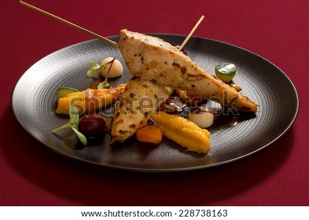 turkey breast with vegetables - stock photo
