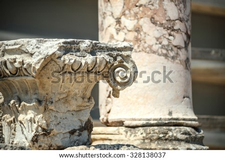 Turkey, Ephesus, ruins of the ancient roman city - stock photo