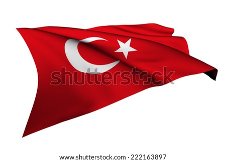 Turkey flag - collection no_5  - stock photo
