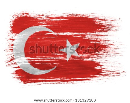 Turkey. Turkish flag - stock photo