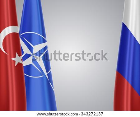 Turkey VS russia - stock photo