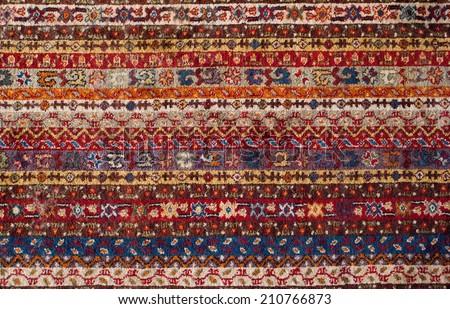 turkisch carpet texture - stock photo