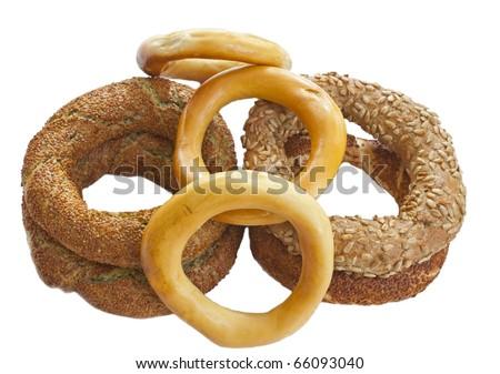 Turkish bagels - stock photo