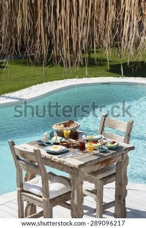 turkish breakfast - stock photo