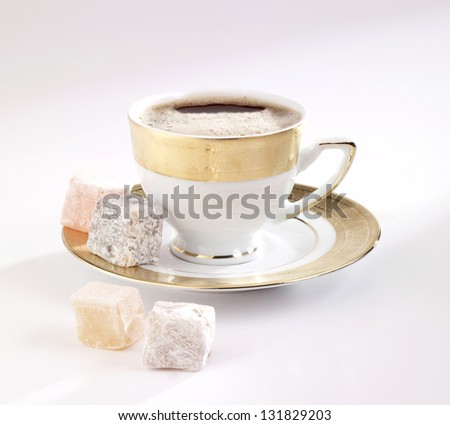 turkish coffee - stock photo