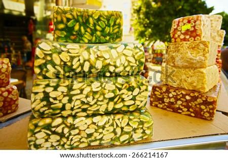 turkish delight - sweet food - stock photo