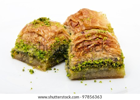 Turkish dessert - stock photo