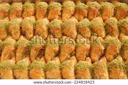 Turkish Dessert Baklava - stock photo