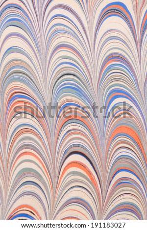 Turkish marbled paper artwork background - stock photo