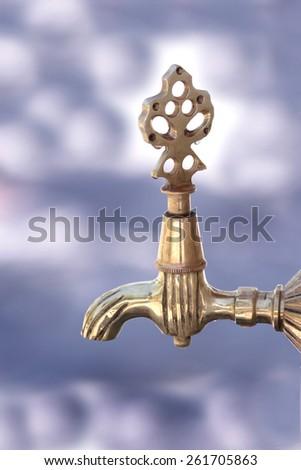 Turkish ottoman style water tap - stock photo