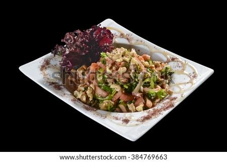 Turkish special salad - stock photo