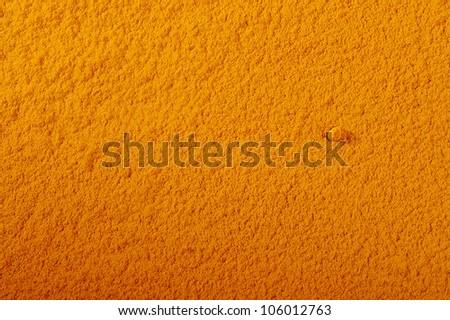 turmeric powder background - stock photo