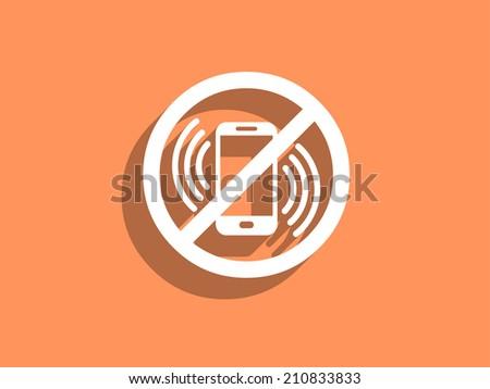 turn off phone icon - stock photo
