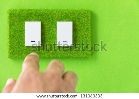 turn off the light,earth hour concept - stock photo