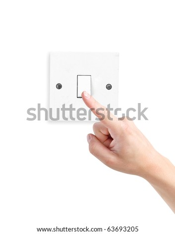 Turn on or off - stock photo