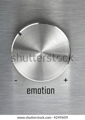 Turn on your emotion - stock photo