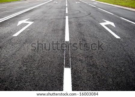 Turn to new life street, road, arrow direction - stock photo