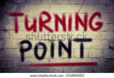 Turning Point Concept - stock photo