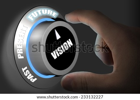 Turning the dial to the future forecast - stock photo