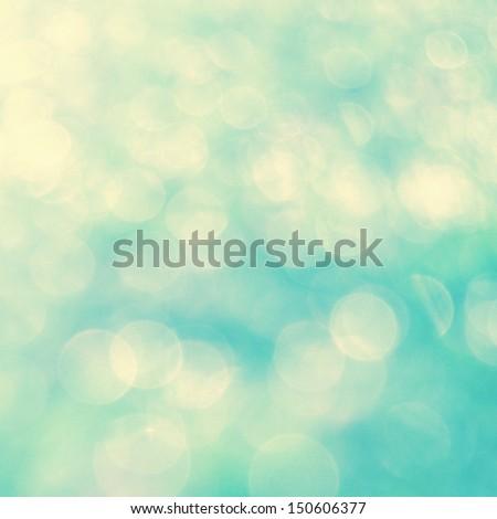 turquis bokeh background - stock photo