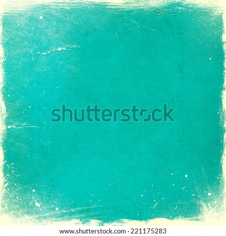 Turquoise grunge texture or background  - stock photo