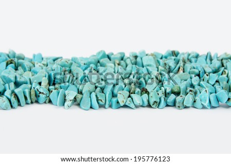 Turquoise Lines / Turquoise Stings in line, Isolated on White Background - stock photo