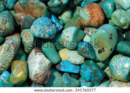 turquoise mineral background - stock photo