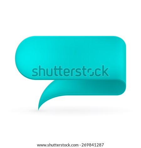 Turquoise ribbon. Abstract scroll paper vector background. Design element. Ribbon banner. Isolated on a white background. - stock photo