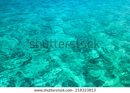 turquoise surface of the sea. background - stock photo