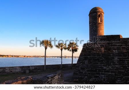 Turret  of Castillo de Sam Marcos - stock photo