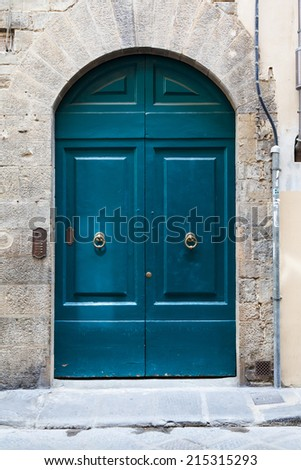 Tuscan door - stock photo