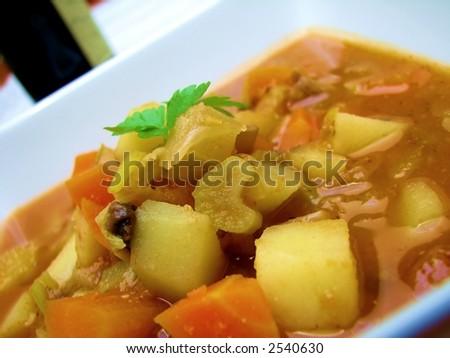 Tuscan Farmhouse Soup - stock photo