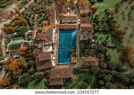 Tuscany, Italy, aerial view - stock photo