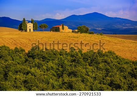 Tuscany, Italy - San Quirico d'Orcia  - stock photo