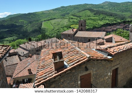 Tuscany, Santa Fiora - stock photo