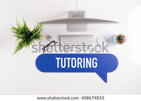 TUTORING Search Find Web Online Technology Internet Website Concept - stock photo