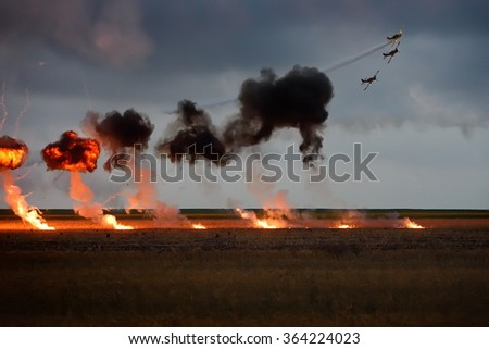 TUZLA,ROMANIA - JULY 04 : pilots performing at Tuzla airshow Aeromania on July 04, 2015 in Tuzla, Romania - stock photo