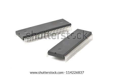 TV chips isolated on white background - stock photo