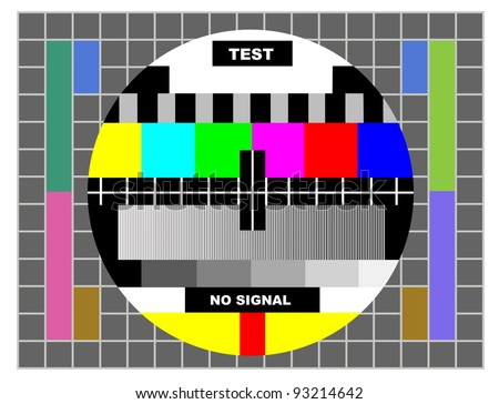 tv color test pattern, test card for PAL and NTSC - stock photo