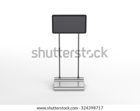 tv displays from front view isolated - stock photo