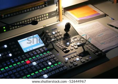 TV equipment - stock photo