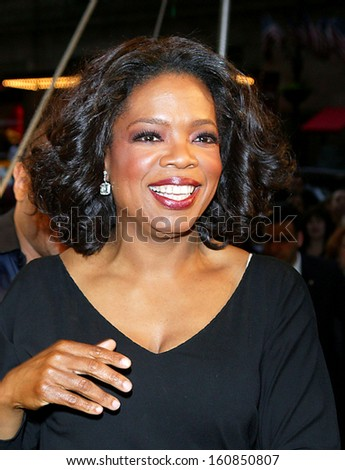 TV Host Oprah Winfrey attends the Sesame Workshop's Second Annual Benefit Gala at Cipriani's 42nd St June 2, 2004 in New York City - stock photo